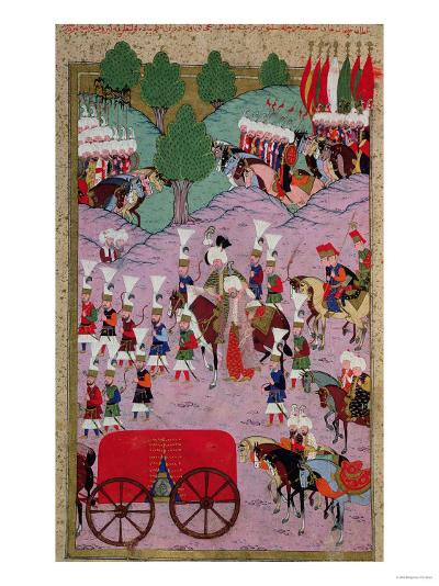 """""""Hunername"""" the Army of Suleyman the Magnificent (1494-1566) Leave for Europe--Giclee Print"""