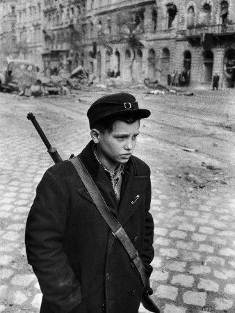 Hungarian Freedom Fighter During Revolution Against Soviet Backed Government-Michael Rougier-Photographic Print