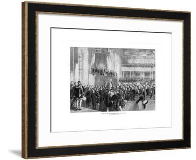 Hungarian Parliament, 1900-Paul Burde-Framed Giclee Print