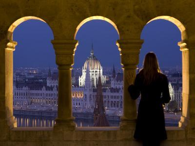 Hungarian Parliament Seen from Fishermans Bastion, Budapest, Hungary-Doug Pearson-Photographic Print