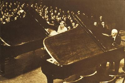 Hungary, Budapest, Bela Viktor Janos Bartok in Concert at Piano with His Second Wife Ditta Pasztory--Giclee Print