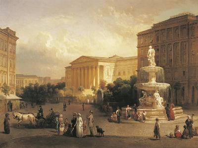 Hungary, Budapest, Kalvin Square in Budapest--Giclee Print