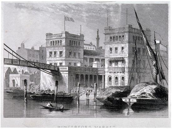 Hungerford Market, Westminster, London, C1847--Giclee Print