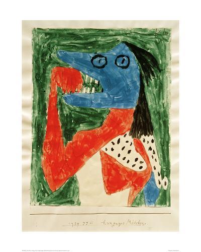 Hungry Girl-Paul Klee-Giclee Print