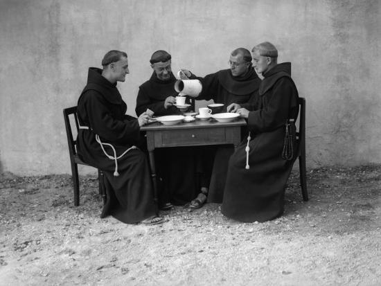 Hungry Monks--Photographic Print