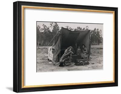 Hungry Mother and Children-Dorothea Lange-Framed Art Print
