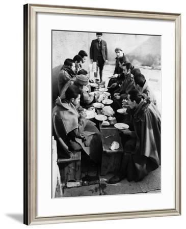 Hungry Soldiers--Framed Photographic Print