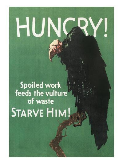Hungry Vulture Poster--Art Print