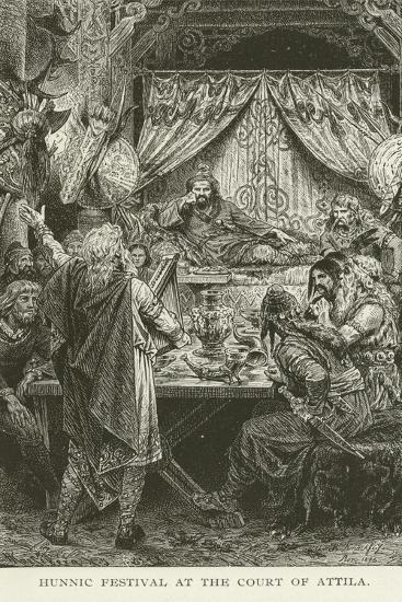 Hunnic Festival at the Court of Attila--Giclee Print