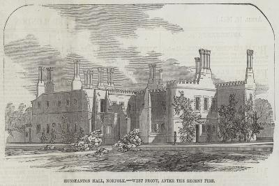 Hunstanton Hall, Norfolk, West Front, after the Recent Fire--Giclee Print