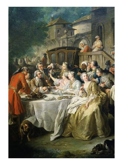 Hunt Luncheon (Un Déjeuner De Chasse), 1737-Jean Francois de Troy-Giclee Print