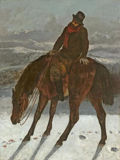 Hunter on Horseback, C.1864-Gustave Courbet-Giclee Print