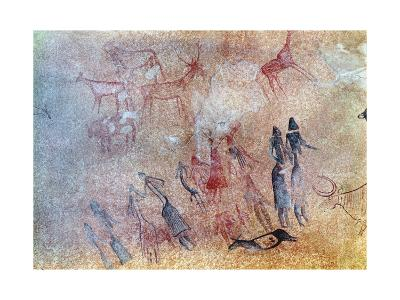 Hunters, Bovides and Cervidae, from the Cogul Cave--Giclee Print