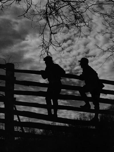 Hunters Crossing Fence-A. Aubrey Bodine-Photographic Print