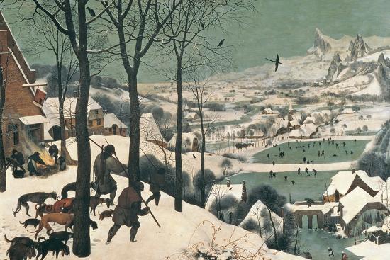 Hunters in the Snow, February, 1565-Pieter Bruegel the Elder-Giclee Print