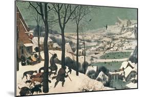 Hunters in the Snow, February, 1565-Pieter Bruegel the Elder-Mounted Giclee Print
