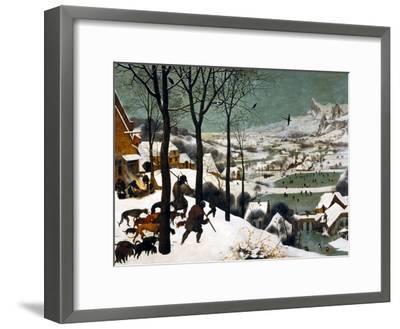 Hunters in the Snow (Winte), 1565-Pieter Bruegel the Elder-Framed Giclee Print