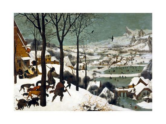Hunters in the Snow (Winter)-Pieter Bruegel the Elder-Giclee Print