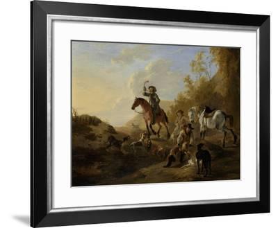 Hunters Resting-Dirk Stoop-Framed Art Print