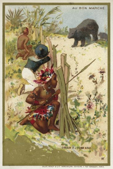 Hunting a Grey Bear--Giclee Print