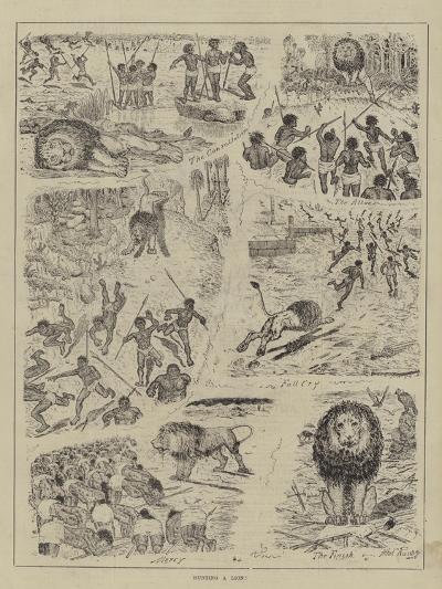Hunting a Lion!--Giclee Print