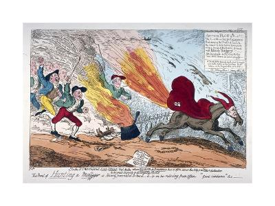 Hunting a Mare, 1819-George Cruikshank-Giclee Print