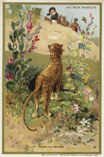 Hunting a Panther--Giclee Print