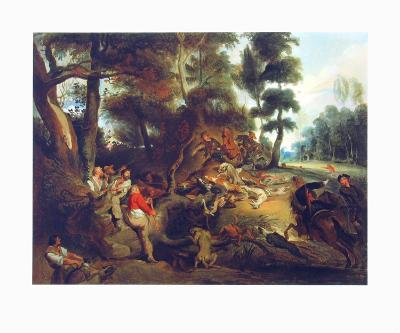 Hunting a Sow-Eugene Delacroix-Collectable Print