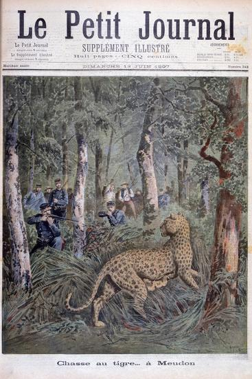 Hunting an Excaped Leopard, Meudon, Paris, 1897-Henri Meyer-Giclee Print