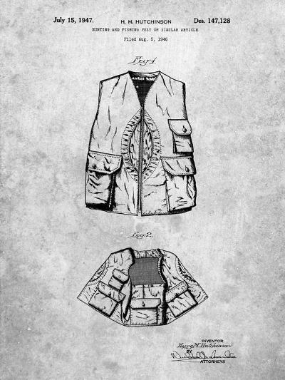 Hunting and Fishing Vest Patent-Cole Borders-Art Print
