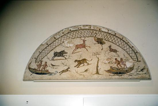 Hunting animals with net, Roman mosaic from Carthage, c3rd century-Unknown-Giclee Print