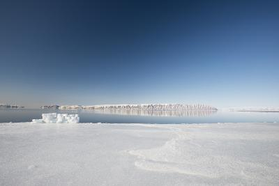 Hunting Blind Made from Ice Blocks at the Floe Edge-Louise Murray-Photographic Print