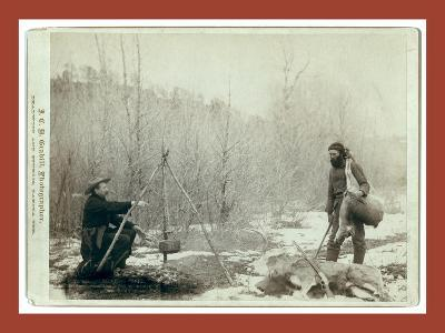 Hunting Deer. a Deer Hunt Near Deadwood in Winter '87 and ' Two Miners Millan and Hubbard Got their-John C. H. Grabill-Giclee Print