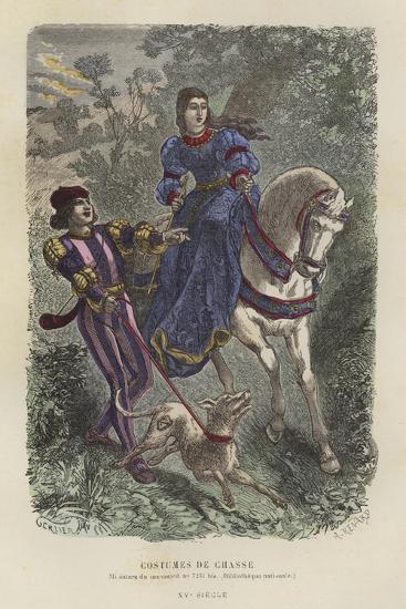 Hunting Dress, 15th Century--Giclee Print