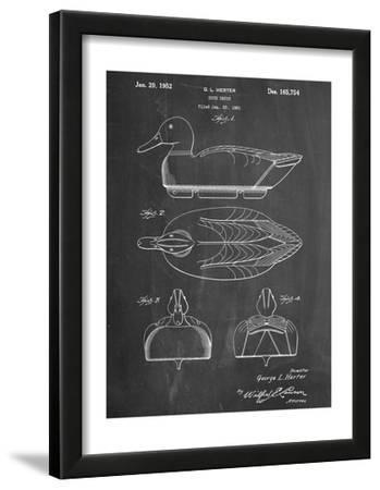 Hunting Duck Decoy Patent--Framed Art Print