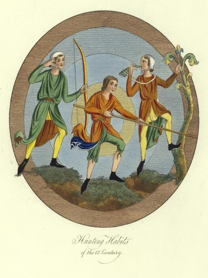 Hunting Habits of the 13th Century--Giclee Print