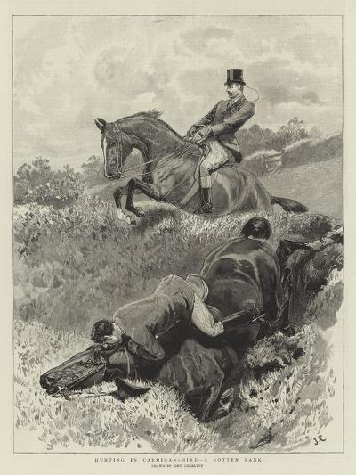 Hunting in Cardiganshire, a Rotten Bank-John Charlton-Giclee Print