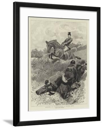 Hunting in Cardiganshire, a Rotten Bank-John Charlton-Framed Giclee Print