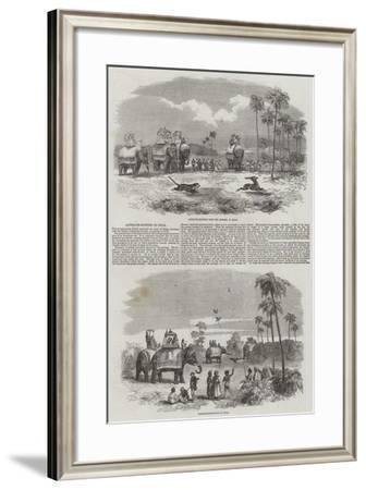 Hunting in India--Framed Giclee Print