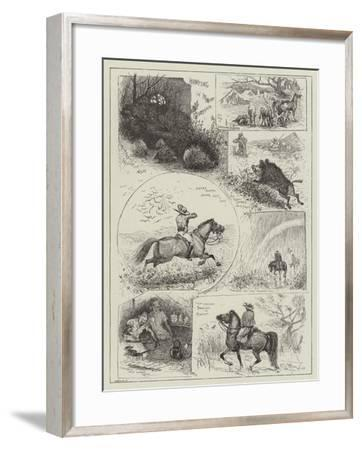 Hunting in Morocco-Henry Charles Seppings Wright-Framed Giclee Print