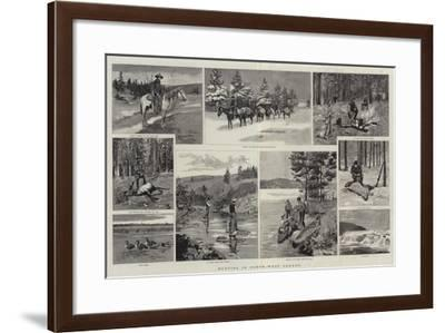 Hunting in North-West Canada--Framed Giclee Print