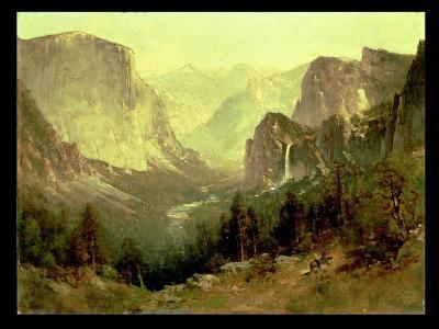 Hunting in Yosemite, 1890-Thomas Hill-Giclee Print