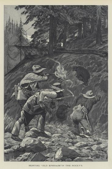 Hunting Old Ephraim in the Rocky's-Richard Caton Woodville II-Giclee Print