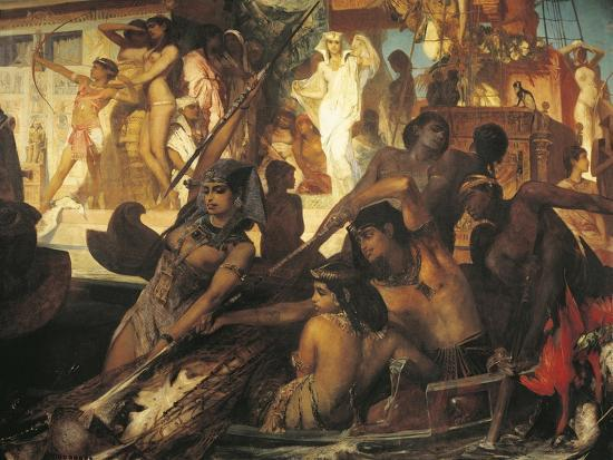 Hunting on Nile-Hans Makart-Giclee Print