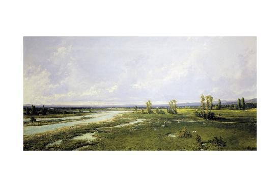Hunting on River Bed of Piave in Belluno-Alessandro Seffer-Giclee Print
