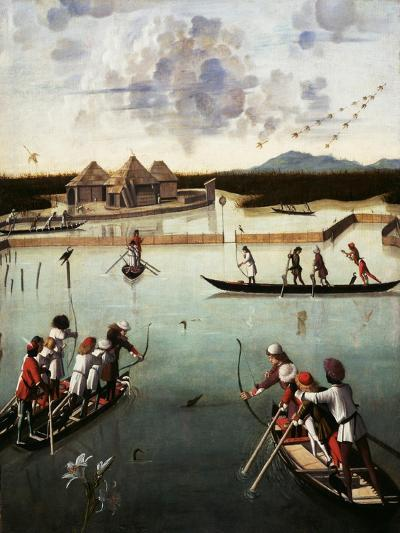 Hunting on the Lagoon, c.1490-5-Vittore Carpaccio-Giclee Print