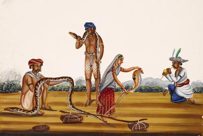 Hunting People Busy with Snakes, from Thanjavur, India--Giclee Print