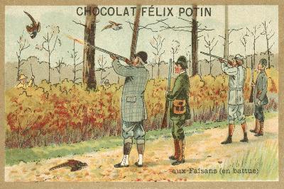 Hunting Pheasant--Giclee Print