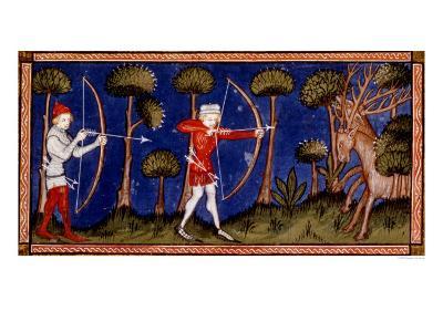 Hunting Scene, 14th Century--Giclee Print