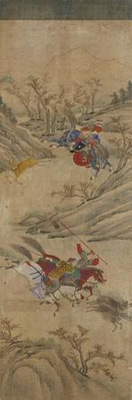 Hunting Scene (3 Riders and 2 Boars)